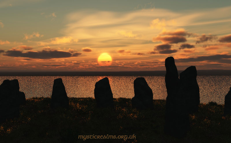 Stone circle on Lundy