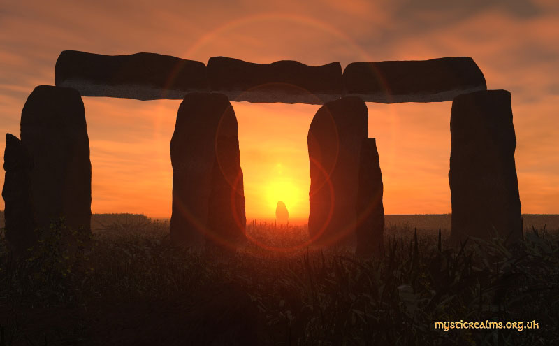 Stonehenge - Midsummer Solstice Sunrise over the Hele Stone
