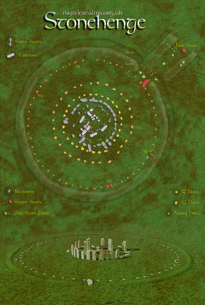 Stonehenge Uk Map.Stonehenge Map And Stonehenge Aerial View By Mystic Realms